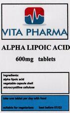 ALPHA LIPOIC ACID 600mg 365 tabs powerful antioxidant, glucose metabolism