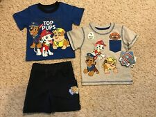 New Nick Jr. Kids Paw Patrol Short Sleeve Shirt's and Shorts 3 Piece Set 18M