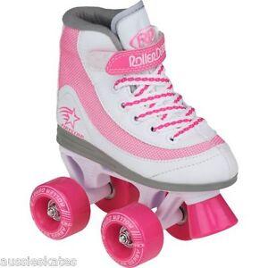 Roller Derby Firestar Kids Girls Pink Quad Roller Skates Us Size 1