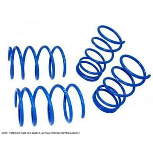 "Manzo Lower Lowering Spring Blue For 06-11 Hyundai Accent Kia Rio F 1.5"" R 1.5"""