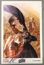 2015 SDCC Exclusive Marvel Litho - CAPTAIN AMERICA / FALCON SIGNED by ALEX ROSS