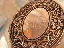 HKM Initialen Graviert Vintage 600ms Ziselieren Silbern Medaillon Halskette