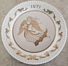 Spode Annual Christmas Plate Bone China 1971 Angels Singing Gloria Hosanna