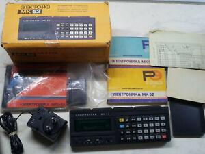 New Soviet RPN Programmable Calculator Elektronika MK-52 + BRP-4 Full Boxed Set