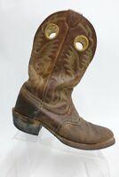 ARIAT Roughstock Brown Sz 10 D Men Square-Toe Cowboy Boots