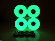 Blank GLOW IN THE DARK 70mm Longboard Color Wheels + ABEC 7 Bearing  + Spacers
