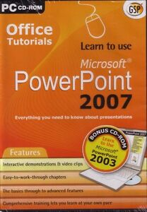Learn to use Microsoft MS PowerPoint 2007 & 2003 NEW