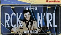 PLAQUE métal vintage ELVIS PRESLEY king of rock'n'roll