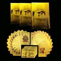 Spielkarten Magic 24K goldene Folie Spiel Karten Set Poker Joker Wasserdichte