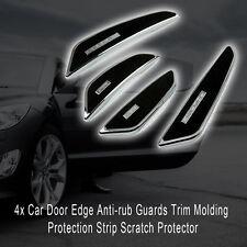 4Pcs Car Door Edge Anti-rub Guards Trim Molding Protection Strip Scratch Black