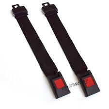 "2pcs Universal 14"" Car Seat Belt Extention Extender SAFETY Black"