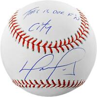 David Ortiz Boston Red Sox Autographed Baseball with This Is Our F'N City Inscr