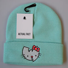 Actual Fact Wu Tang Hello Kitty Hip Hop Beanie Roll Up Tiffany Mint Wooly Hat