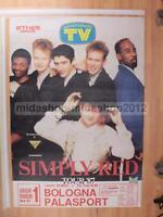 "SIMPLY RED "" TOUR 1987"" 01-06-1987 BOLOGNA 100X70 POSTER CONCERTO [MM 0180-A]"