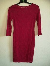Club L Lace Dress In Raspberry Pink Size 12