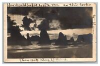 Vintage Early 1900's RPPC Postcard Sunset Bay Oregon POSTED