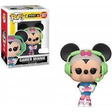 Caja Protectora + 37004 FUNKO POP! Mickey's 90th  - Figura Minnie Gamer - EXC...