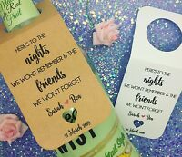 Wedding Wine Bottle Labels - Favour Thank You Tags - Bottle Hangers