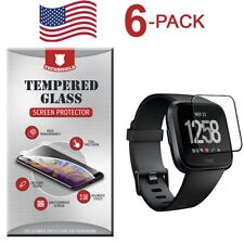 6-Pack Tempered Glass Film Screen Protector For Fitbit Versa