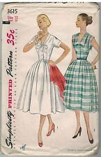 3615 Simplicity Sewing Pattern Misses 1950 Fitted Dress Full Skirt Rockabilly 12