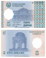 Tajikistan 5 Dirams 1999 P-11 Antigua URSS Billetes Unc