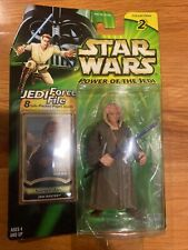 """SAESEE TIIN - Jedi Master ~ 3.75"""" Figure STAR WARS Power of the Jedi Force File"""
