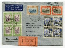 Mozambique regist. airmail cover Vila Pery to Winterthur Switzerland 29-12-1939