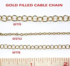 Gold Filled Chain Cable chain--Round Wire S.M. size