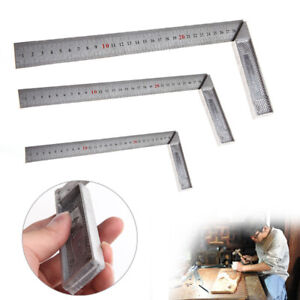 Metal Engineers Try Square Set Wood Measuring Tool Right  Angle Ruler 90 Degrees