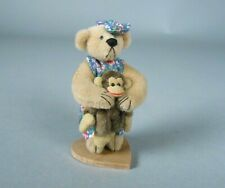Little Gems Huggle Miniature Bear with Monkey Deb Canham