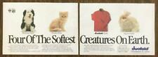 1990 Duofold Turtleneck Shirt Print Ad 4 of the Softest Creatures on Earth 2 pgs