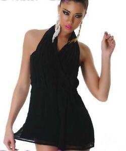 Sexy Damen Clubbing Shorty kurz Overall Hose Einteiler Jumpsuit 34 36 38 schwarz