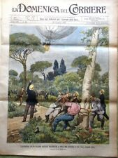 La Domenica del Corriere 30 Giugno 1901 Inondazione Como Begas Cattaneo Milano