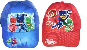 PJ Masks Baseball Cap. One Size. Approx Ages 2-6 Years. Available In Red Or Blue