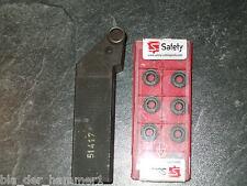 Hertel PRGCL 2525M12H1 Drehstahl + 10 Safety RCMT 1204M0-RP5 5625 Wendeplatten