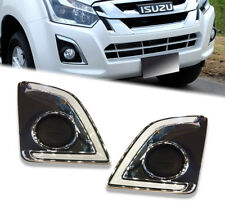 CHROME COVER SPOT LIGHT FOG LAMP WITH LED FIT FOR ISUZU D-MAX DMAX 2015 16 17