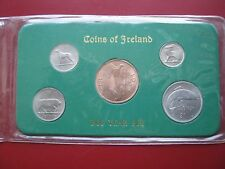 Ireland Irish Eire 1968 last Pre-decimal 5 coin set from Penny to Florin carded