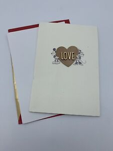 Hallmark Signature Disney Love Card 3D MICKEY MOUSE & MINNIE MOUSE Valentine's