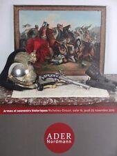 Catalogue de vente Arme ancienne & blanche Souvenir historique Western Figurines