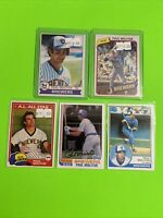 🔥1979-83🔥HOF MILWAUKEE BREWERS PAUL MOLITOR VINTAGE Topps Baseball Card LOT X5