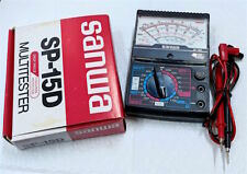 Mint SANWA SP-15D Analog Multimeter Drop Proof Taut-band Movt Made in Japan