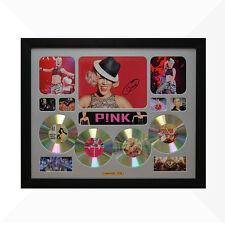 Pink P!NK Signed & Framed Memorabilia - 4 CD - Silver - Limited Edition
