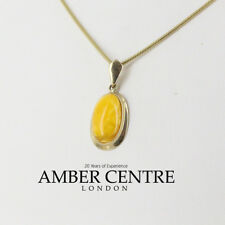 Italian Antique Butterscotch Baltic Amber Pendant 9ct Gold  GP0017YL RRP£265!!!