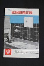 Antiguo DDR Manual de instrucciones Depósito agua caliente N 5 11 EWS