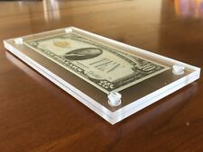 *Best Acrylic Bank Note Frame Plastic Money Holder Currency Display Dollar Case