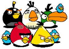 8 ANGRYBIRDS Cross Stitch PATTERN