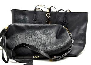 Desigual Women's Ayla Butter Capri Reversible Shopper & Messenger Bag
