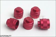 5 Paintball CO2 Tank Thread Protectors Cap Thread Savers RED Color