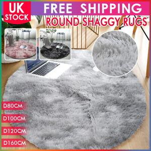 Circle Round Shaggy Rug Living room Bedroom Carpet Floor Fluffy Mat Anti-Skid