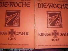 0726 2x Die Woche 1915 18.Jhg Reklame 2 14